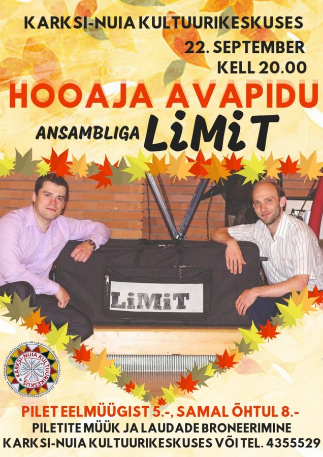 Tantsuõhtu ansambliga LIMIT